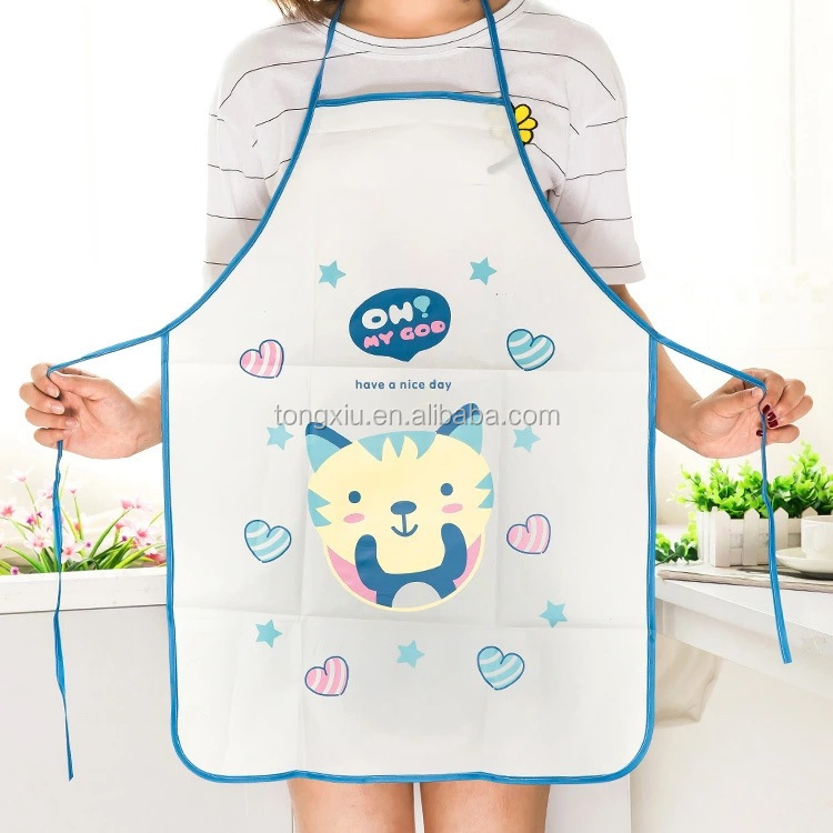 New silk screen high quality cheap plain apron for promotion