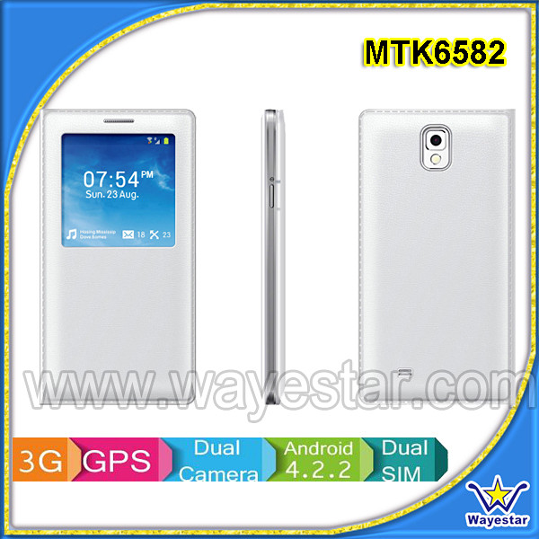 5.7'' HD IPS 1280x720 MTK6582m Quad Core 3G Android 4.3 Phone 1G+8G 2 Cameras