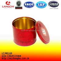 Large size camel tin box with round shape