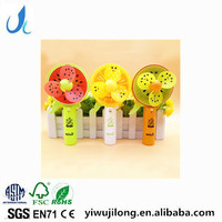 Mini Water Mist Spray Fan Cartoon Handheld Friut Fan For Summer Promotion