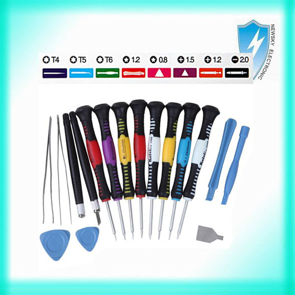 16 in 1 Precision Professional Versatile Hardware Screwdriver Pry Open Repair Tool Kit for iPhone 4/4S