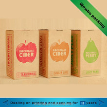 small corrugated fruit juice packing carton