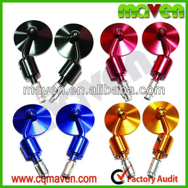 "Quality Maven Brand New 3"" CNC Bar End Mirrors Motorcycles 7/8"" Handlebar For Custom Naked bikes Cruisers Choppers MV01015"
