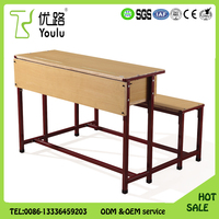 China Manufacturer School Desk With Attached Chair