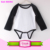 Infant Baby Boys or Girls Raglan Baseball Onesie Jersey Style Creeper Long Sleeve Black/White Stripes Blank Raglan Baby Romper