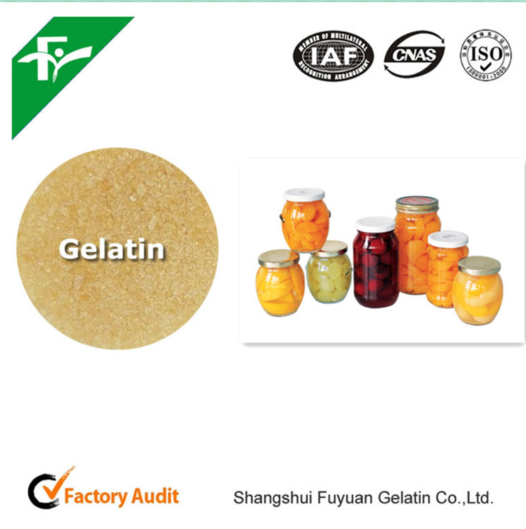 Antioxidants Type Gelatin Powder--Edible Gelatin in Canned Fruit of New Product Health Food