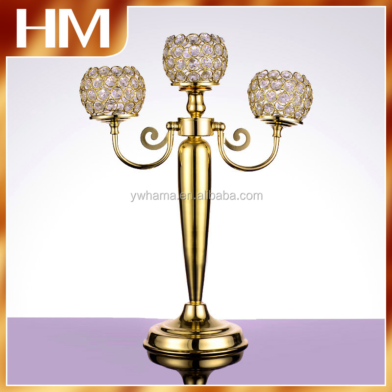 Factory price crystal candelabra wedding centerpiece,crystal candle holder centerpiece decoration for wedding
