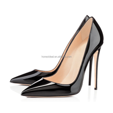 Wholesale Women pointed toe stiletto heel party dress office lady casual big size customized 23 colors high pumps