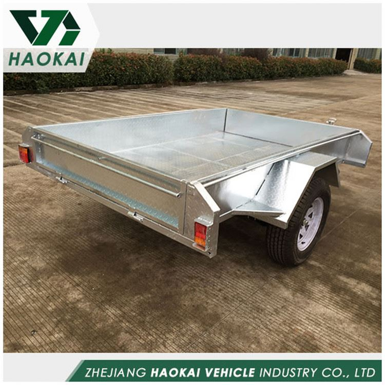 Factory supply strong packing single axle mesh side trailer with good offer