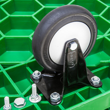 Good Quality plastic platform trolley deck hand plate cart on wheel