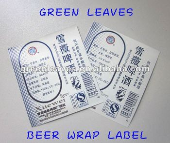 Metallized paper for beer label