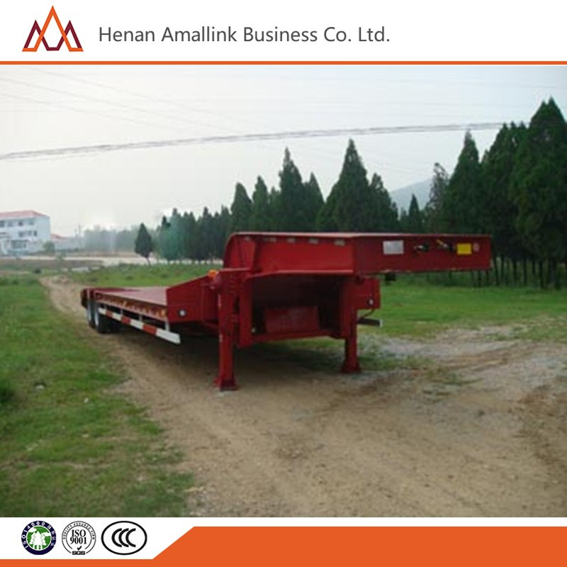 China manufacturing 3 Axle 60Ton Semi Truck Trailer low bed trailer for sale