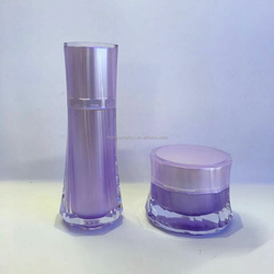 new plastic material and plastic cap for skin care use cosmetic acrylic jar