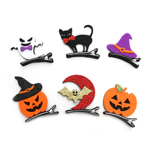 Pumpkin Halloween Children Baby Bats Whimsy Party Stereoscopic Hair Clips for Women Girls Hairpin