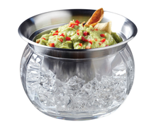 Large Shatterproof Set of 2 Dip Chiller Bowl Iced Stainless-Steel Serving Bowl Dip Bowl On Ice with lid