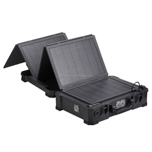 Portable Solar Suitcase System Working as Power Station for Charging in Automobile