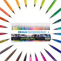 20 Colors/Set cute Color soft head brush Water Mark pen Calligraphy Picture pen Art supplies