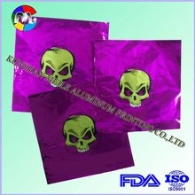 aluminium design sheets chocolate foil sheets with halloween design