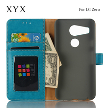 latest mobiles accessories anti water drop leather wallet card slot flip case cover for lg zero