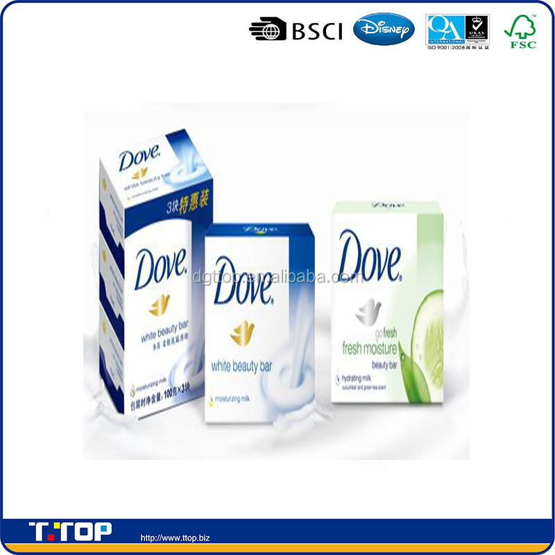 FSC & BSCI Audited Factory Packaging Material Soap Dove Box