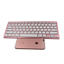 ABS 2*AAA battery 78keys light weight Mini Wireless Bluetooth Keyboard Spanish Keyboard for Ipad/mac/phone