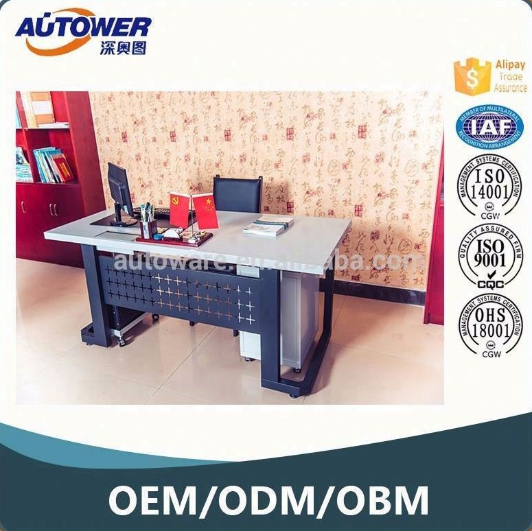 New Simple Design Modern Elegant OEM office furniture metal executive table for Sale