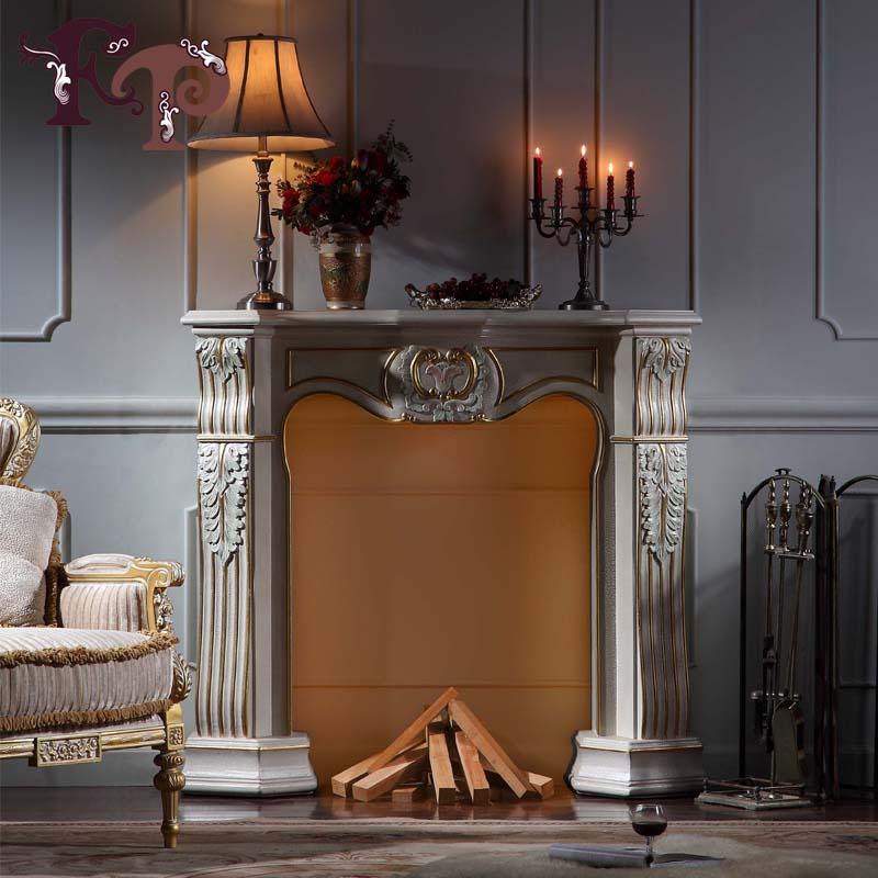 Lujo clásico muebles hogar chimenea de estilo barroco de lujo made in