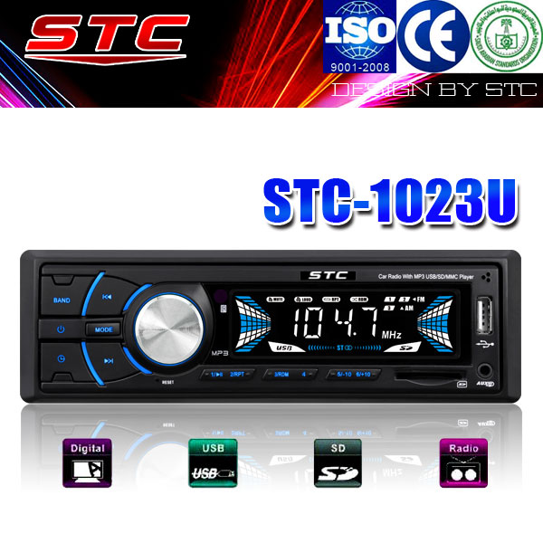 2014 world tech car audio with fixed panel stc-1023u
