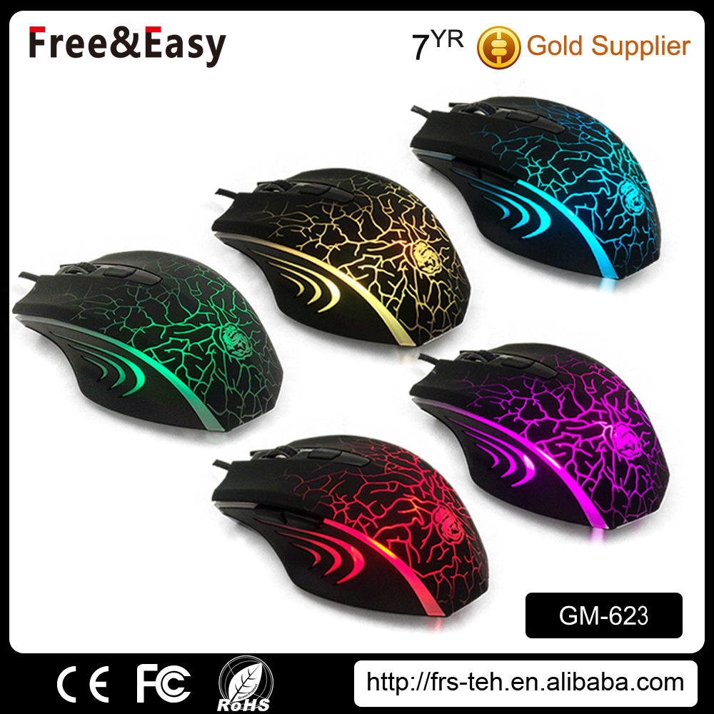 Led wired custom computer mouse