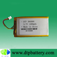 Rechargeable li ion battery 3.7v 1200mah with CE ROHS UL certification