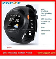 ZGPAX S888 gps mobile tracker watch for elderly people with falling alarm worldwide sync update app and SOS fast dial