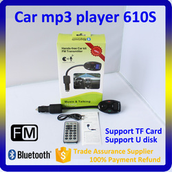 2015 Fashion Hands-free Bluetooth Car Kit Support TF Card U Disk Car Mp3 Player