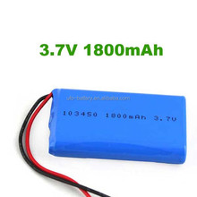 103450 Li-ion Prismatic Battery 3.7v 1800mah li-ion battery ,Lithium-ion batteries for GPS,PDA
