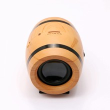 Super Mini Wireless Active Speaker Wooden Smallest Bluetooth Speaker For Home Audio