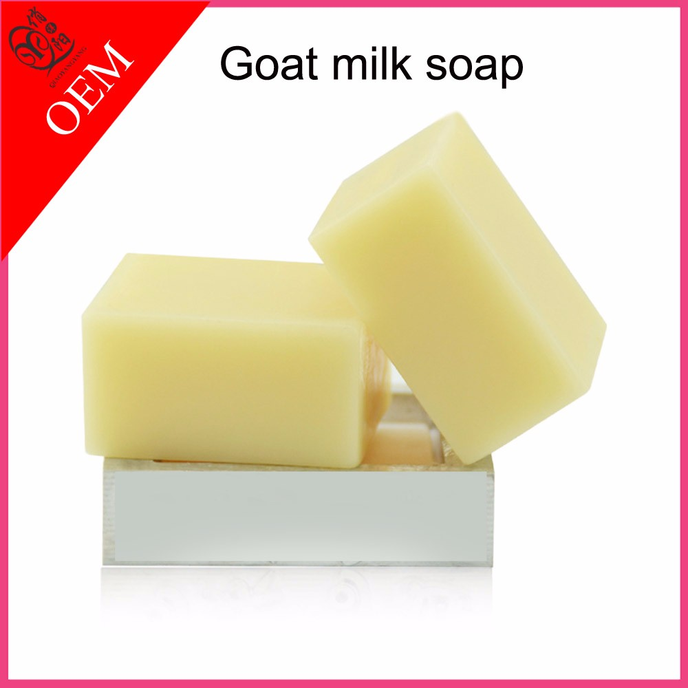 OEM Goat milk whitening essential oil handmade soap for skin lightening moisten