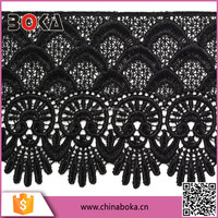 BOKA black high dense embroidery Lady Lingerie Lace
