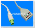 Hellige 10 Pin ECG Trunk Cable Manufacture in ShenZhen