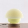 USB rechargeable battery tumbler style color changeable mushroom silicone night light with touch sensor