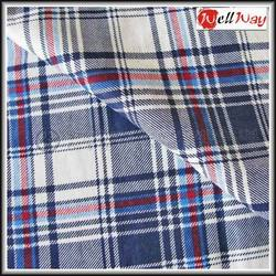 wholesale 100%cotton blue and white plaid fabric for pyjamas