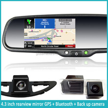 "factory price 4.3"" car rear view mirror + gps navigation + MP3/TV/FM for most car"
