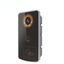 Security multi apartment color IR Camera and 220v Power sip door video intercom