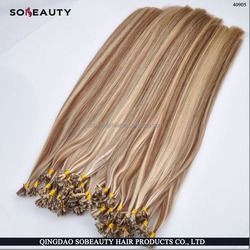 factory price no silicone added remy cuticle intact italian keratin glue 5A+ flat tip hair