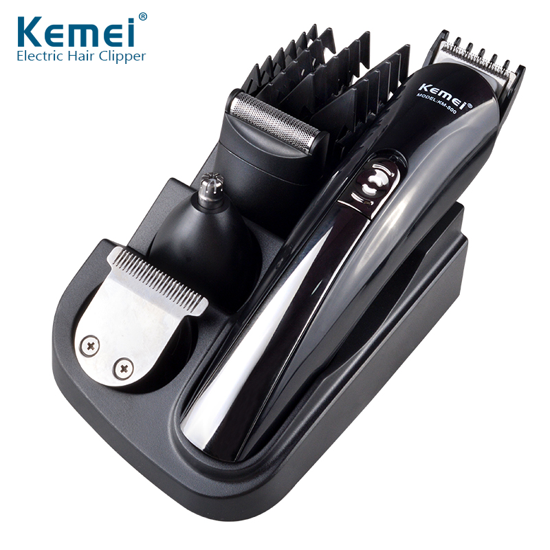 Kemei KM-500 Multifunction 4 in 1 Precision Facial Hair Trimmer, Electric Hair Cutting Machine