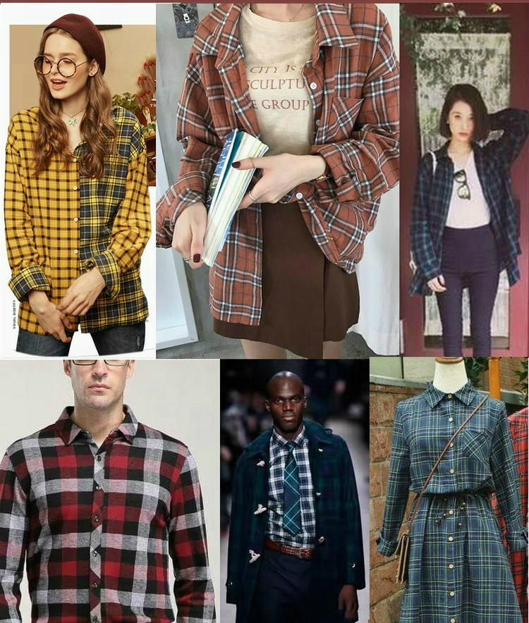 yarn dyed fashion gingham 21s plaid shirting 100%cotton fabric for shirting