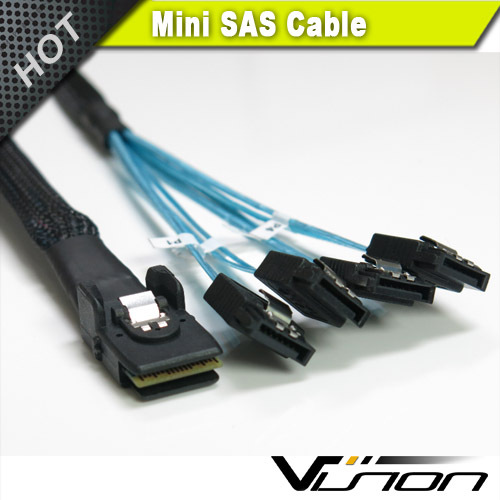 1m Internal Mini SAS 36pin (SFF-8087) Male w/ Latch to SATA 7pin Female cable