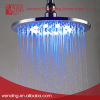 Luxury ceiling rain blue color led chrome shower head