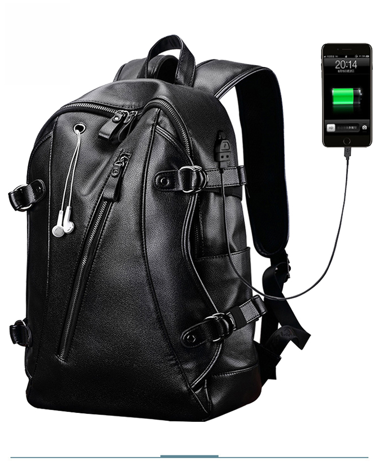 Double shoulder <strong>backpack</strong> men's large capacity casual business travel bag <strong>backpack</strong>
