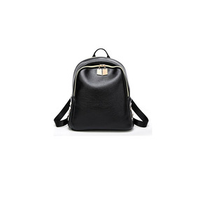 None Leather Backpack,Latest Fashion Cool Rivet soft PU Leather Lady's Backpack Women Travel Double Shoulder Bag
