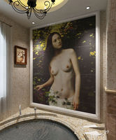 Decor pictures of women without bra tiles