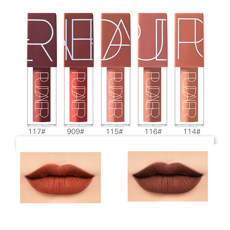 PUDAIER 5 pcs set Ultra Matte lip gloss Waterproof Everlasting Liquid Lipstick Makeup